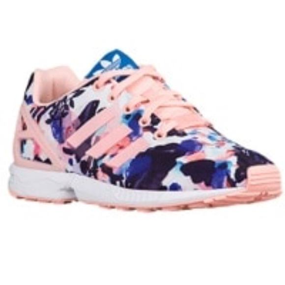timeless design 43363 255f2 Floral Adidas Zx Flux Coral Haze Toddler size 9 NWT
